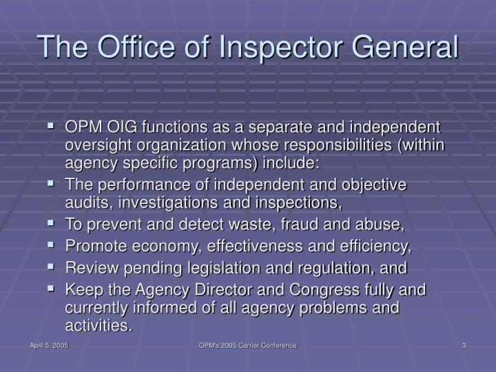 The office of inspector general l.jpg
