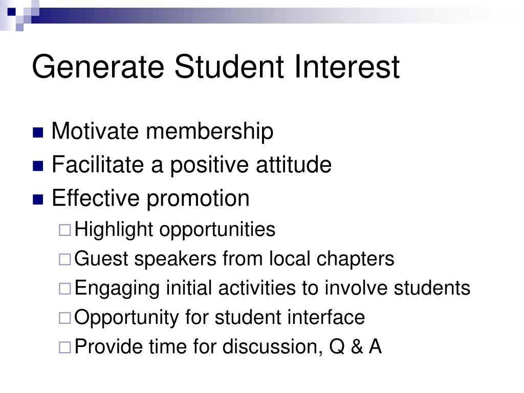 Generate Student Interest
