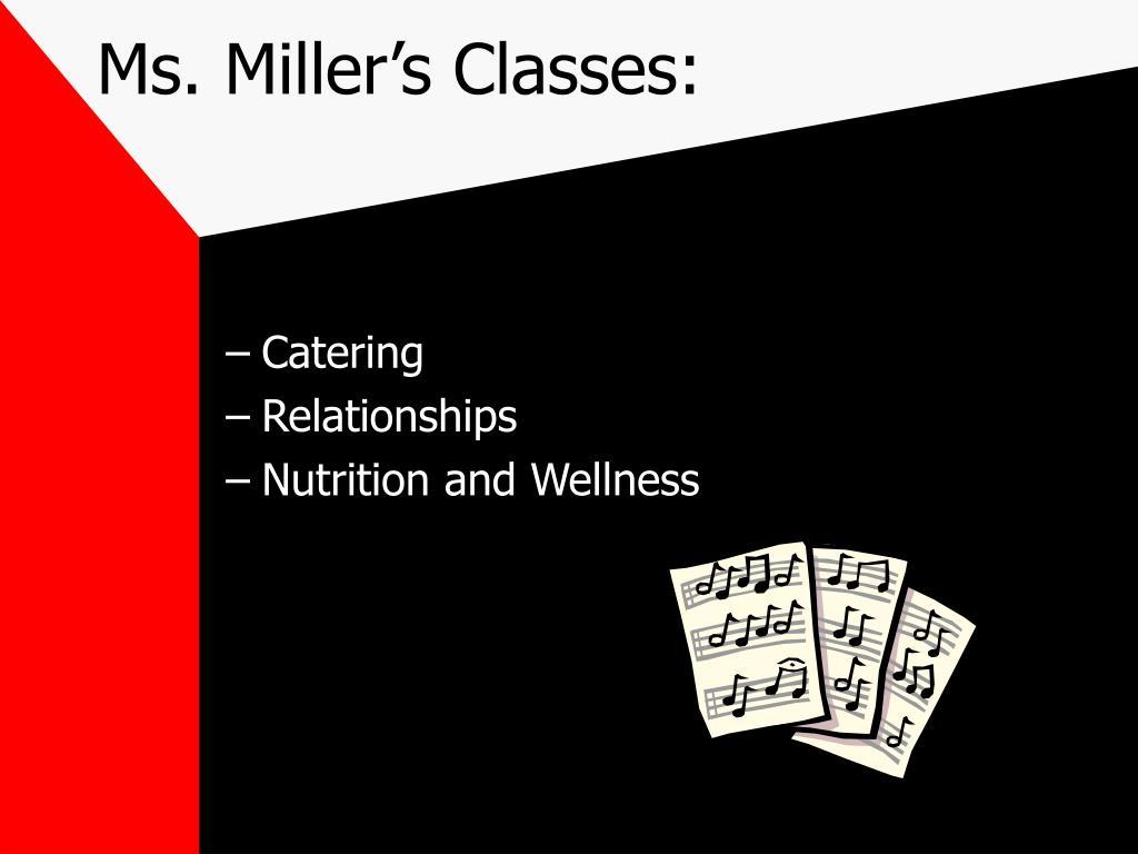 Ms. Miller's Classes: