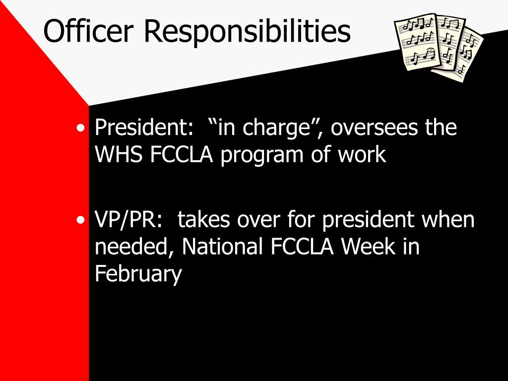 Officer Responsibilities