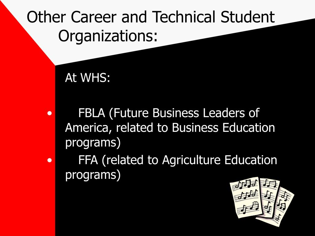 Other Career and Technical Student Organizations: