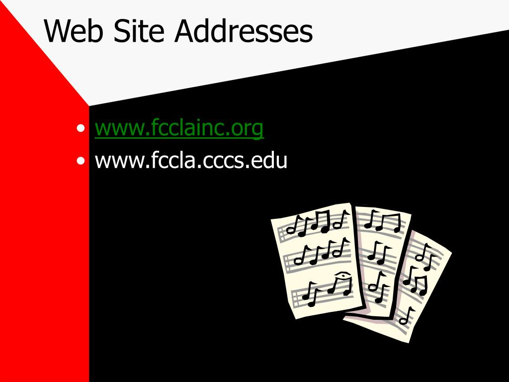 Web Site Addresses