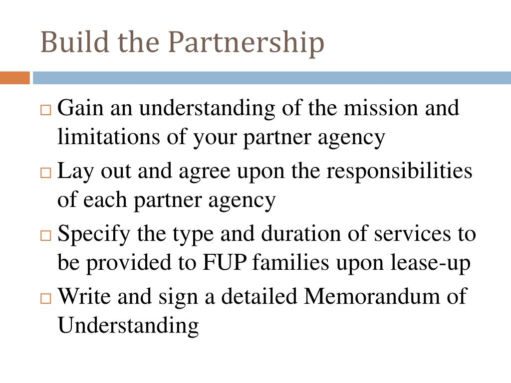 Build the Partnership