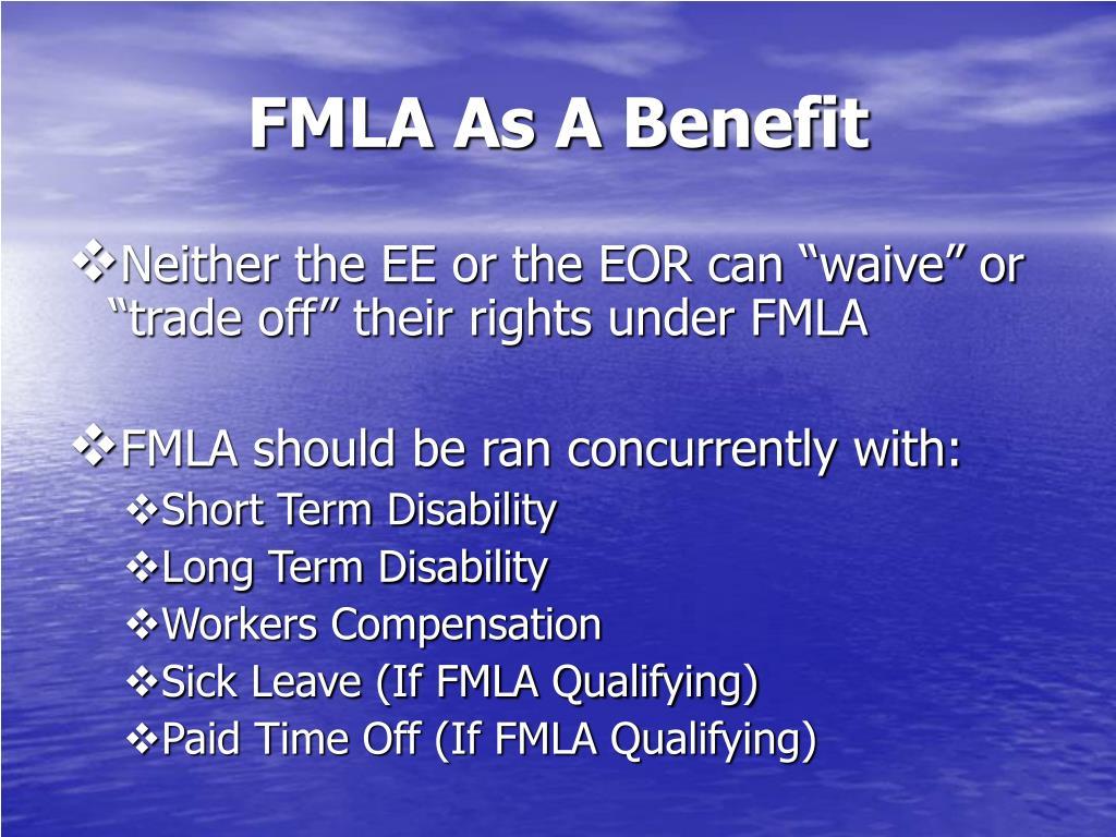 FMLA As A Benefit