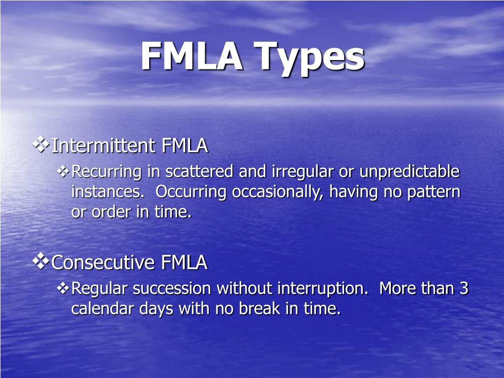 FMLA Types
