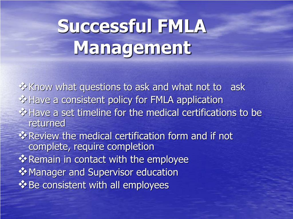 Successful FMLA Management