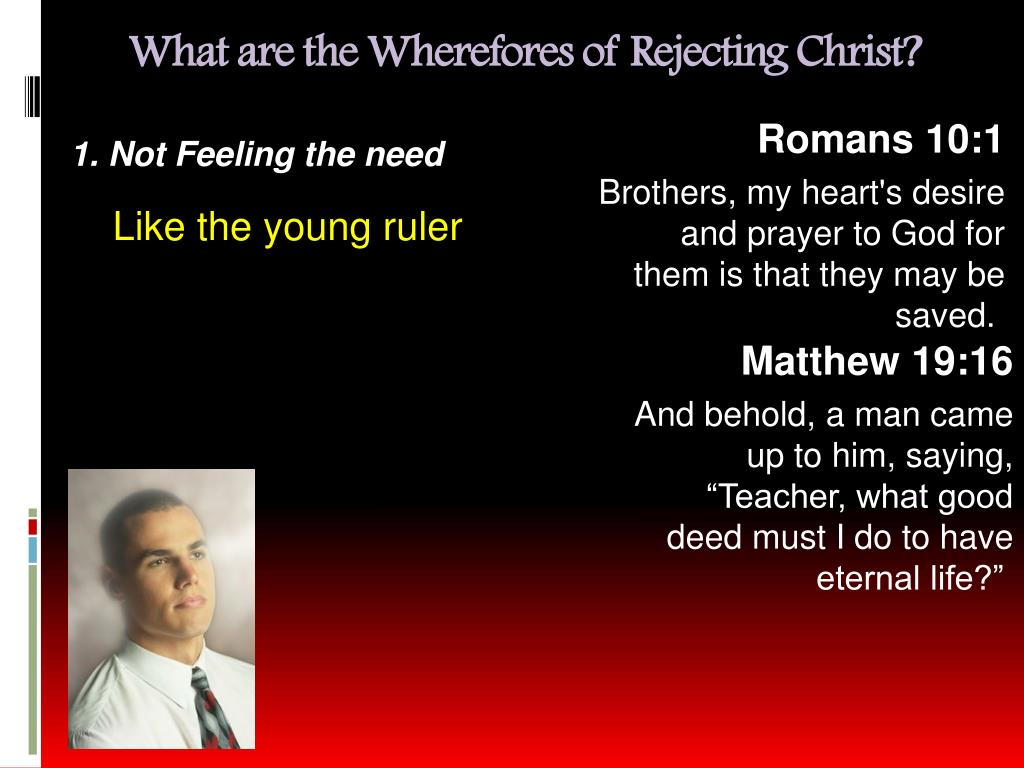 What are the Wherefores of Rejecting Christ?