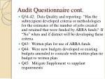 audit questionnaire cont10