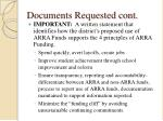 documents requested cont