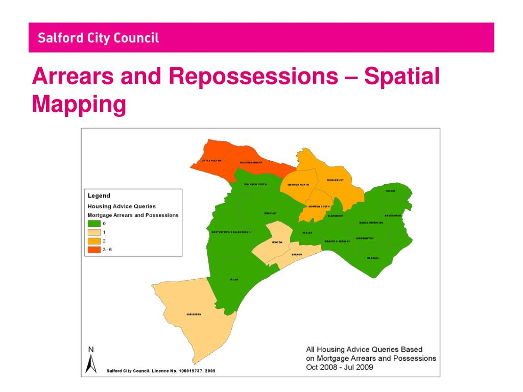 Arrears and Repossessions – Spatial Mapping