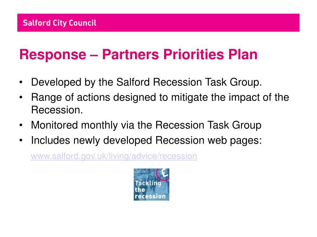 Response – Partners Priorities Plan