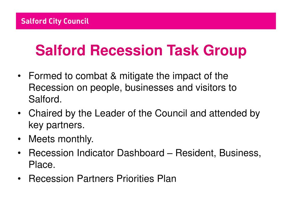 Salford Recession Task Group