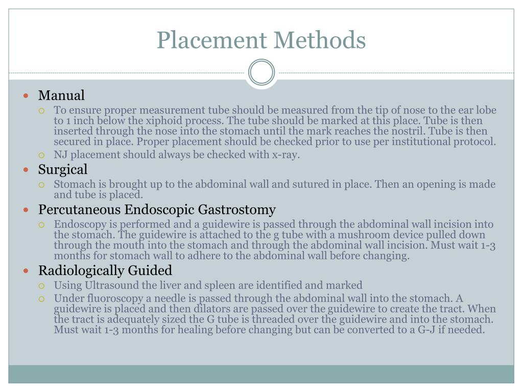 Placement Methods