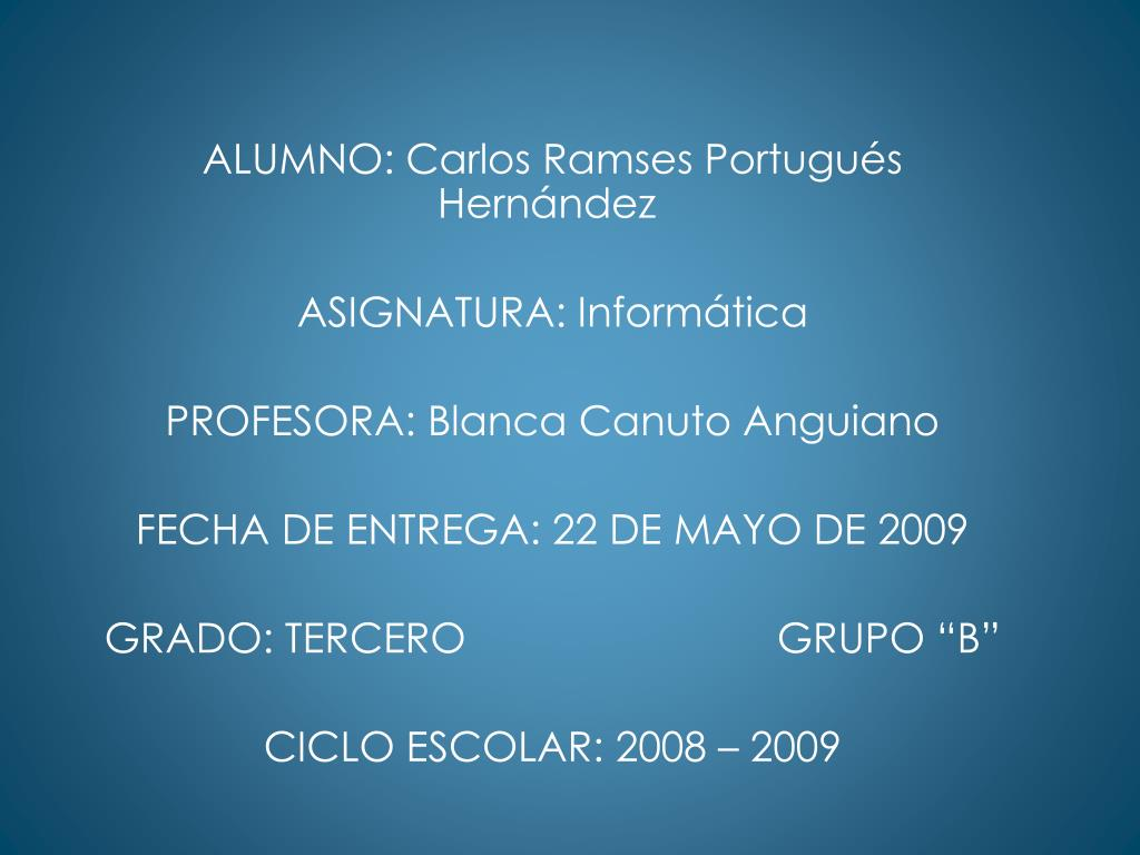 ALUMNO: Carlos Ramses Portugués Hernández