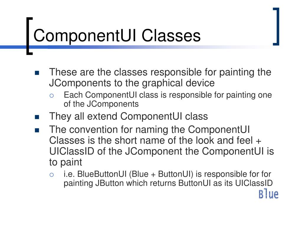 ComponentUI Classes