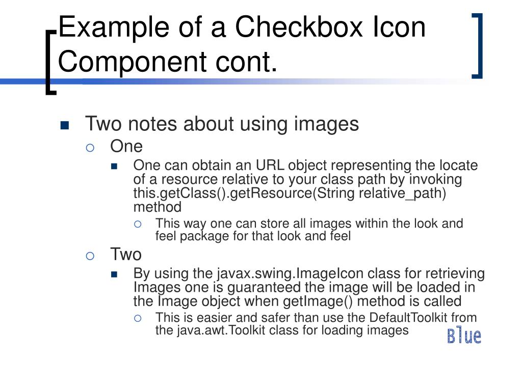 Example of a Checkbox Icon Component cont.