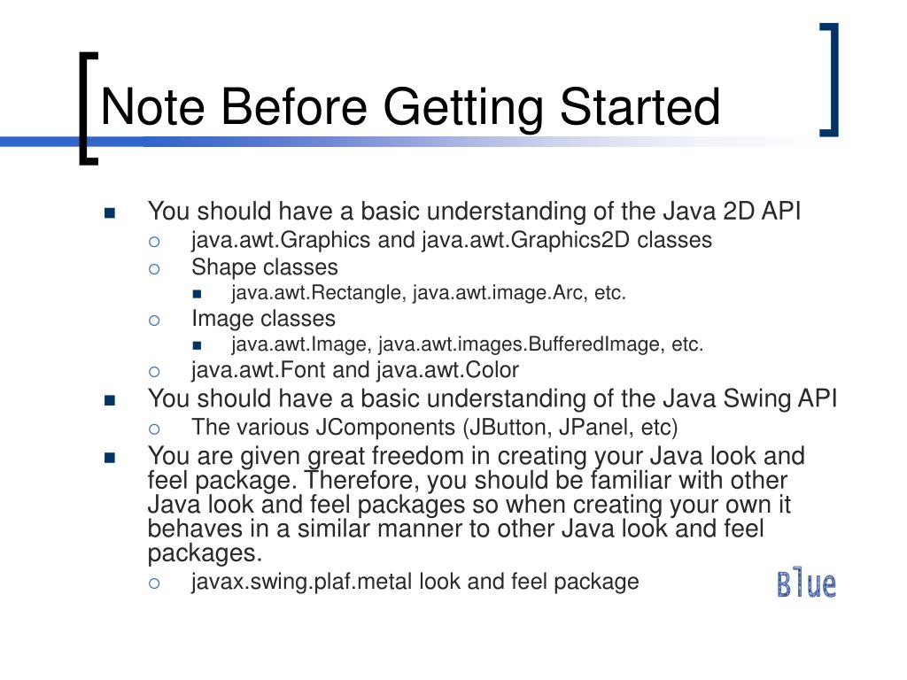 Note Before Getting Started