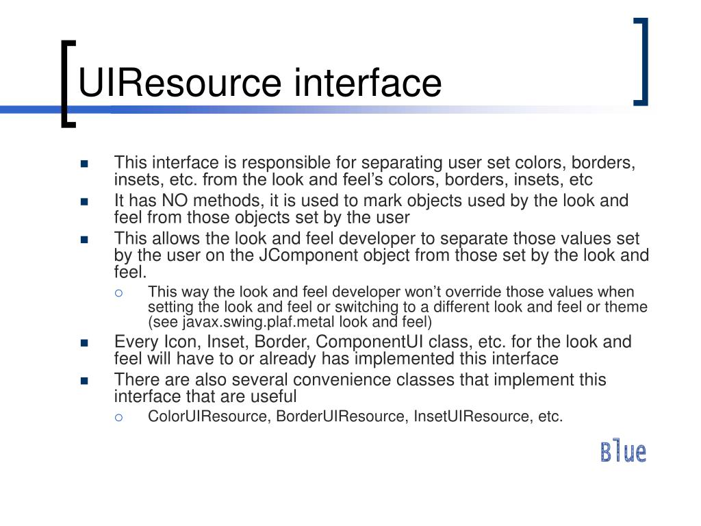 UIResource interface