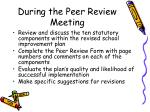 during the peer review meeting