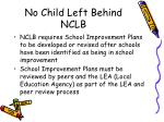 no child left behind nclb