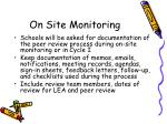on site monitoring