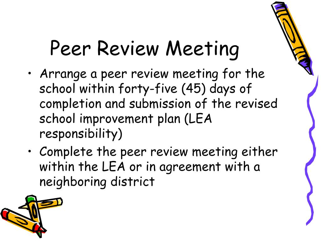 Peer Review Meeting