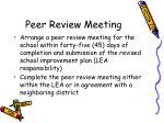 peer review meeting