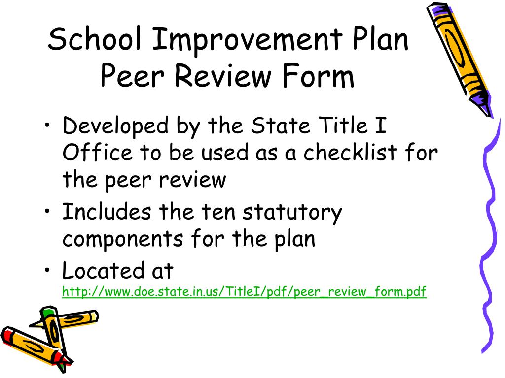 School Improvement Plan Peer Review Form