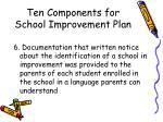ten components for school improvement plan12