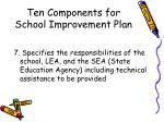 ten components for school improvement plan13