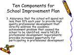 ten components for school improvement plan9