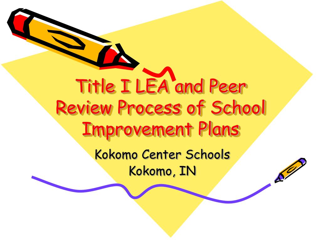 Title I LEA and Peer Review Process of School Improvement Plans