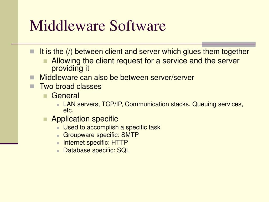 Middleware Software