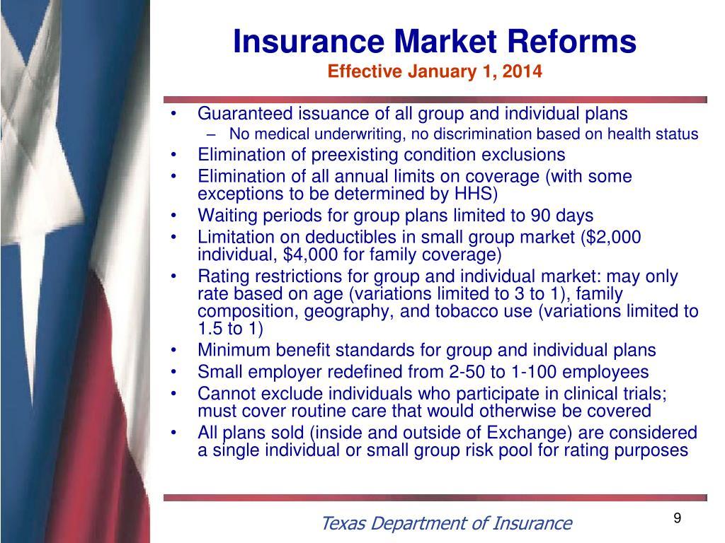 Insurance Market Reforms