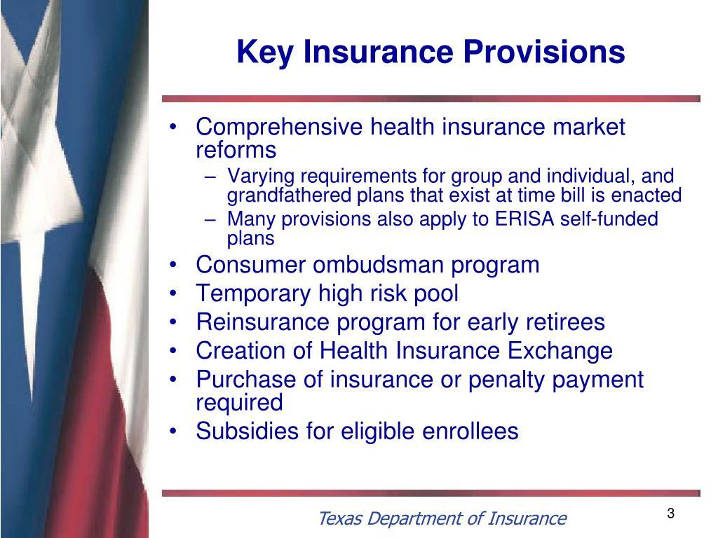 Key Insurance Provisions