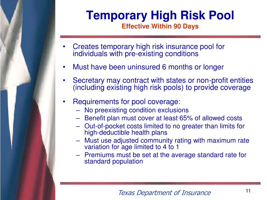 Temporary High Risk Pool
