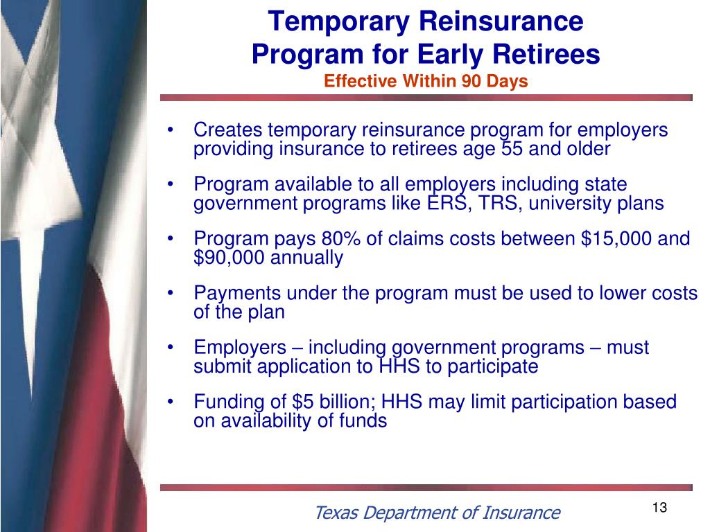 Temporary Reinsurance