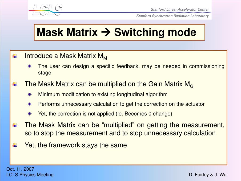 Mask Matrix