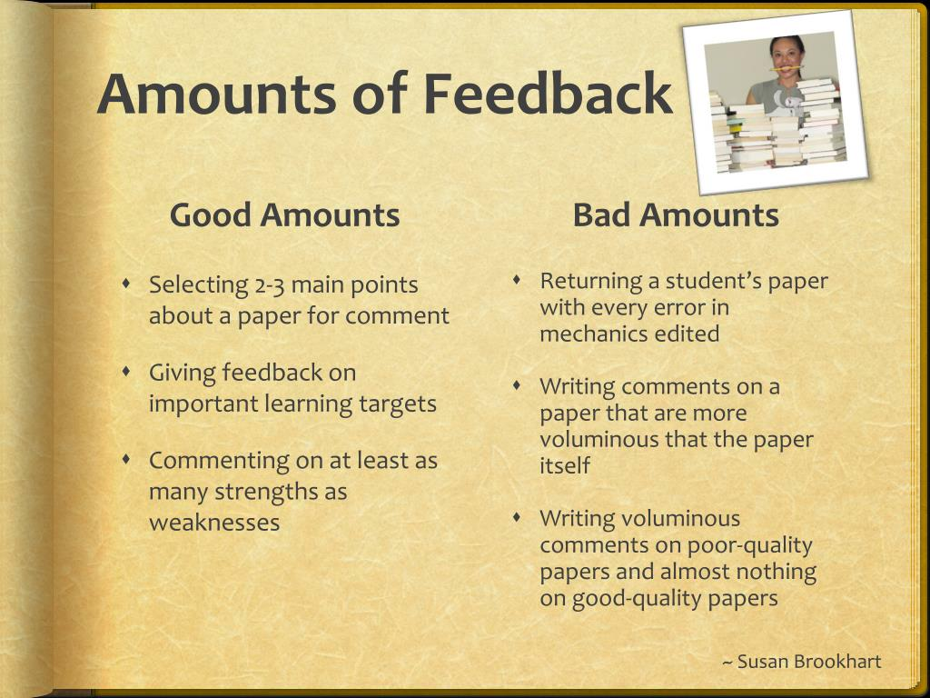 Amounts of Feedback