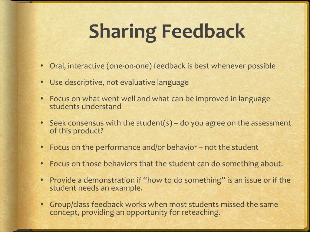 Sharing Feedback