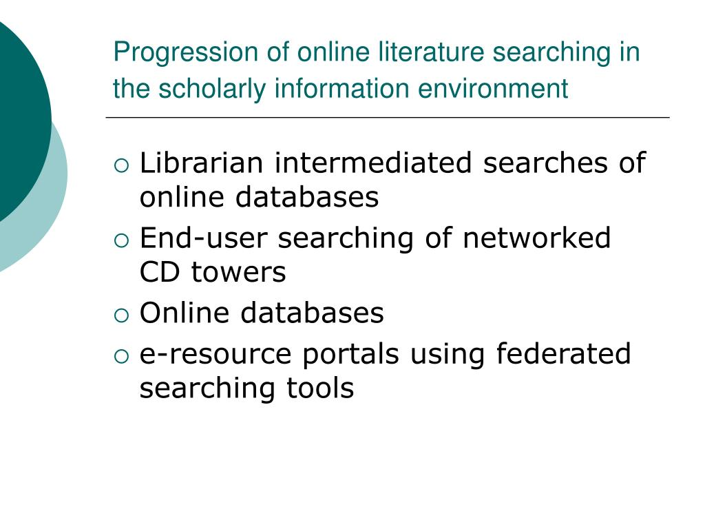 an introduction to the online health information searching Online health information sources should show you when the information was posted or last reviewed search online medical journal databases or ask your librarian to help you look for medical journals using trusted resources was originally published by the national cancer institute.