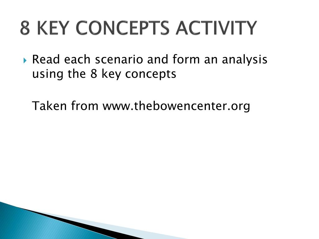 8 KEY CONCEPTS ACTIVITY