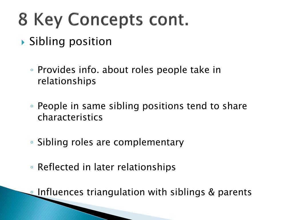 8 Key Concepts cont.