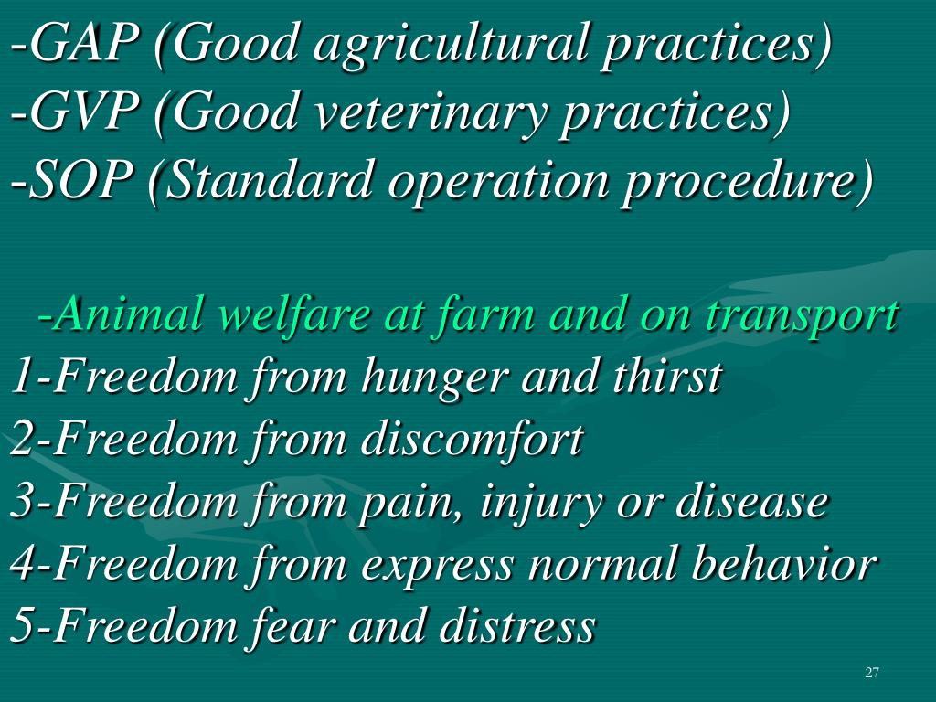 GAP (Good agricultural practices)