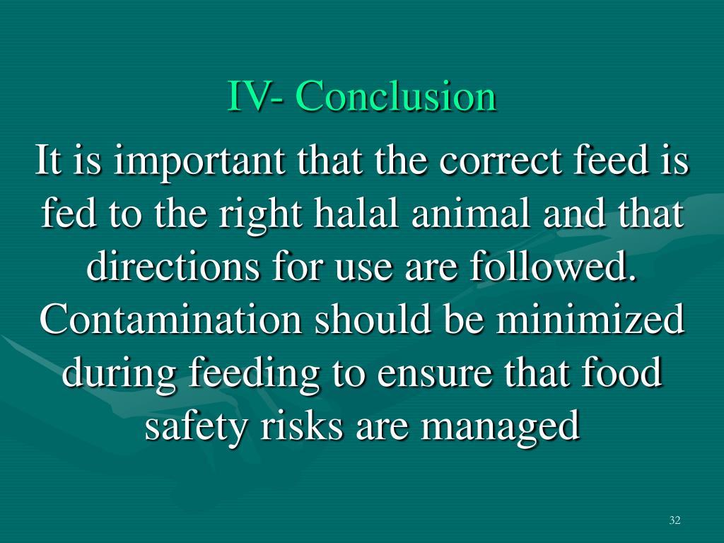 IV- Conclusion