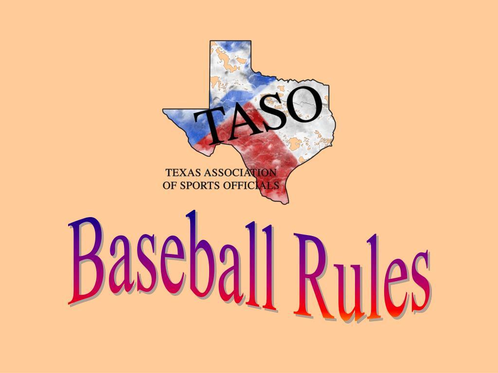 ppt - baseball rules powerpoint presentation