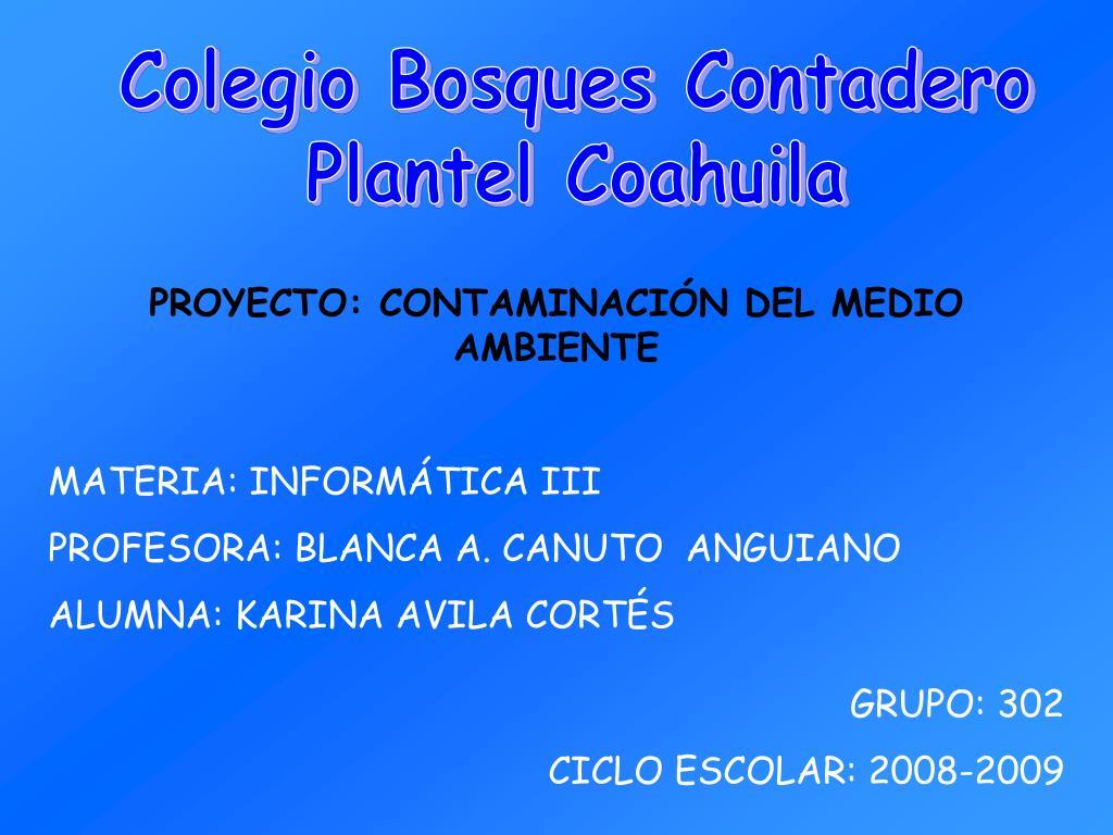 Colegio Bosques Contadero
