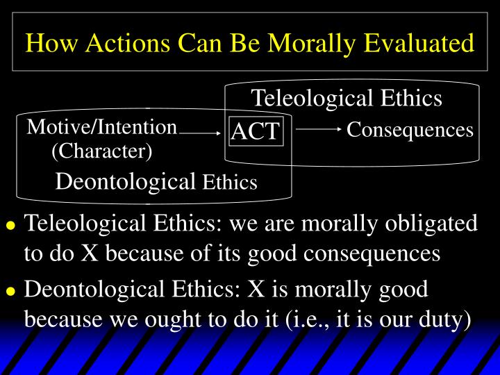 deontological moral theory essay