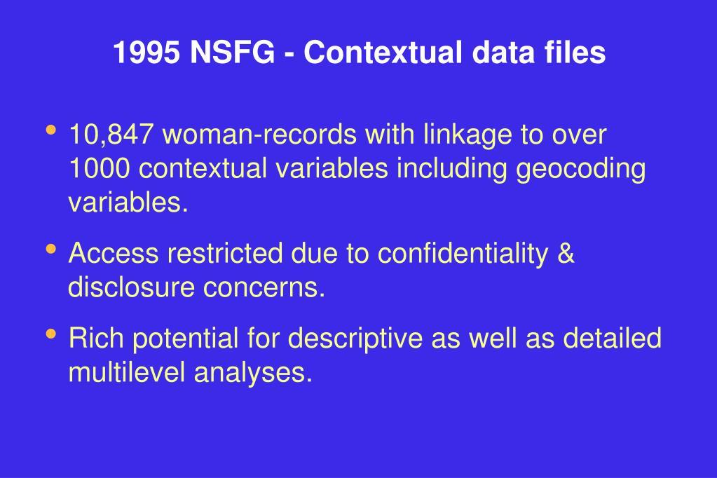 1995 NSFG - Contextual data files