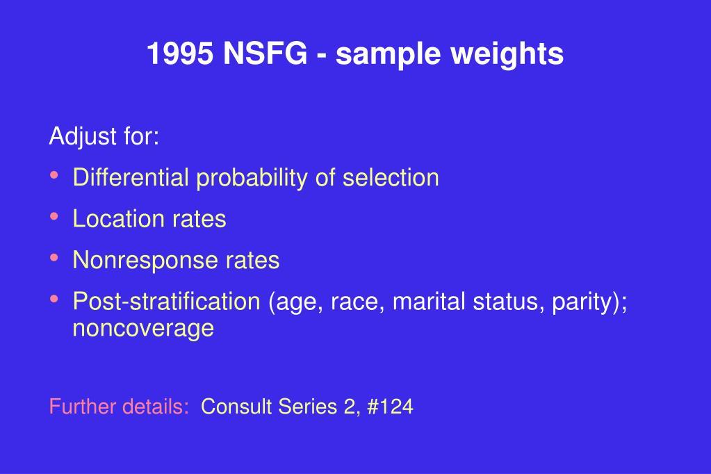 1995 NSFG - sample weights